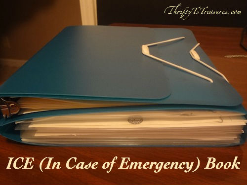 ICE (In Case of Emergency) Book @ Thrifty T's Treasures